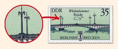 DDR MiNr. 2974 PF I ** 35Pf Histor.Brücken in Berlin