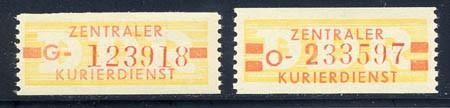 DDR Dienstmarken B MiNr. 18-19 ** (ND) dicke Wertbalken, Nachdruck