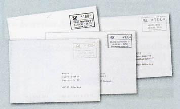 """BRD - 4 """"ABAS""""-Briefe der 4 versch.Hersteller"""
