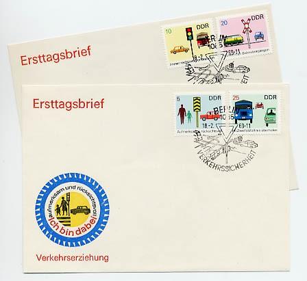 DDR FDC MiNr. 1444/47 Sicherheit im Straßenverkehr II