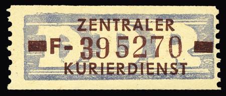 DDR Dienstmarken B MiNr. 20 ** 10 Pf. - 1 Wertbalken, 3,8 mm lang!