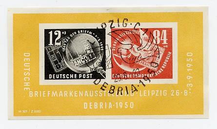 DDR Bl. 7 o MiNr. 271/72 Dt. Briefm. -Ausst. DEBRIA-Block
