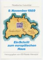 """DDR Gedenkblatt """"Ein Schritt zum europ. Haus"""""""