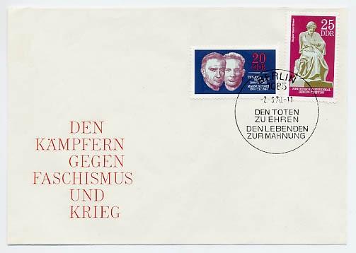 DDR FDC MiNr. 1603/04 Widerstandskämpfer