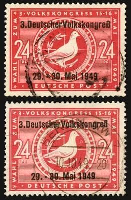 SBZ Allg.A. MiNr. 233 o mit Aufdruck Typ I + II