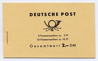 DDR MH 4a1 ** Freimarken: Ulbricht