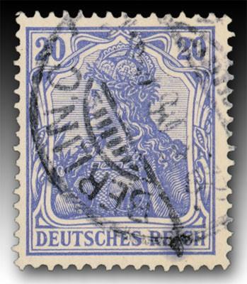 """Dt. Reich MiNr. 72b o gepr. 20 Pf in Farbe """"b"""" Inschrift """"Deutsches REICH"""""""