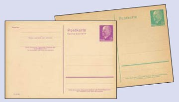 """DDR Postkarten-Ganzsachen Lot 5 versch. """"Ulbricht"""" *"""