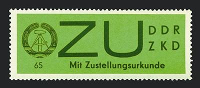 DDR Dienstmarken E MiNr. 2y ** Sendungen mit Zustellurkunde (gestr. Papier)