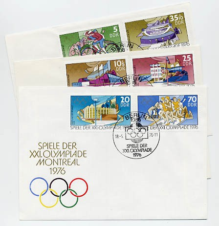 DDR FDC MiNr. 2126/31 Olymp. Sommersp.