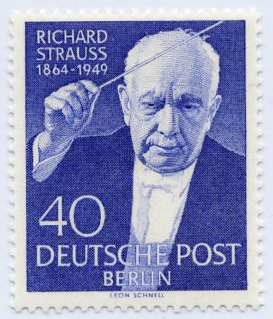 Berlin MiNr. 124 ** 5. Tdstg. Von Richard Strauss