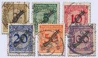 Dt. Reich Dienst MiNr. 99/104 o Dienstmarken, FM 338-43 mit Aufdruck