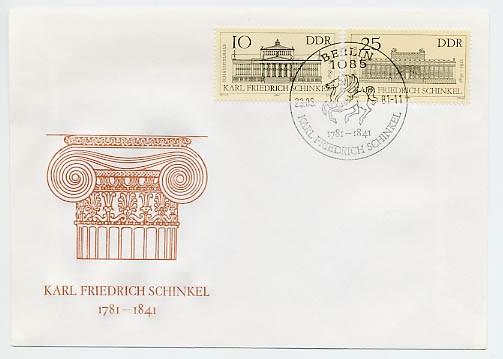 DDR FDC MiNr. 2619/20 200. Geb. Schinkel