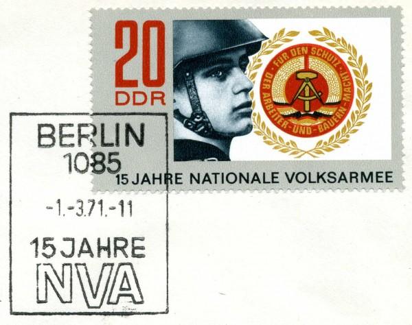 DDR FDC MiNr. 1652 15 J. Nat. Volksarmee