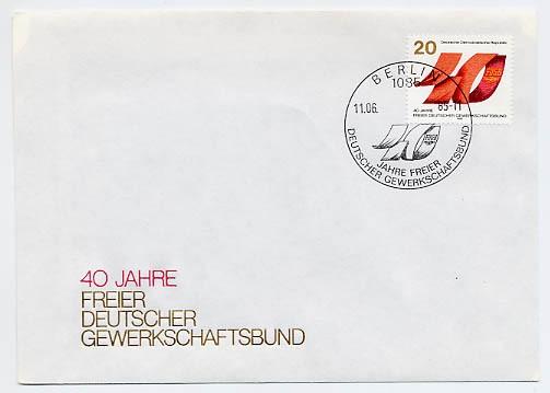 DDR FDC MiNr. 2951 40 Jahre FDGB