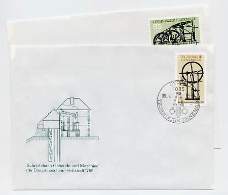 DDR FDC MiNr. 2957/58 Technische Denkmale (II) Dampfmaschinen