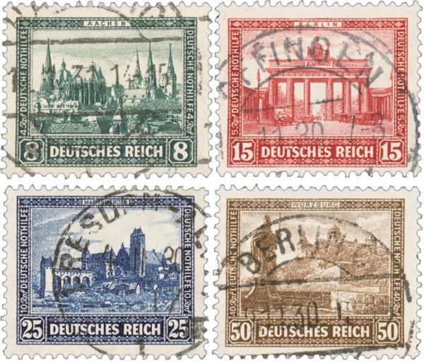 Dt. Reich MiNr. 450/53 o Dt. Nothilfe - Bauwerke I