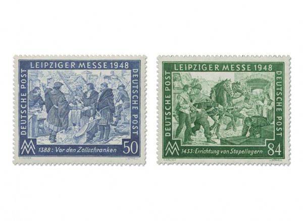 All.Bes.GA MiNr. 967/68 ** Leipziger Frühjahrsmesse 1948