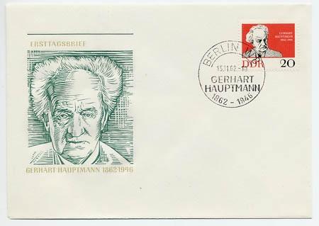 DDR FDC MiNr. 925 G. Hauptmann