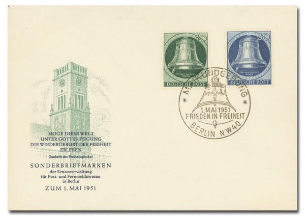 Berlin FDC MiNr. 76 und 78