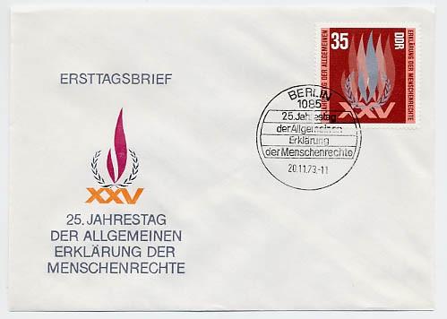DDR FDC MiNr. 1898 Menschenrechte