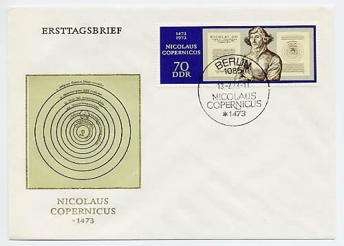 DDR FDC MiNr. 1828 500. Geb. Kopernikus