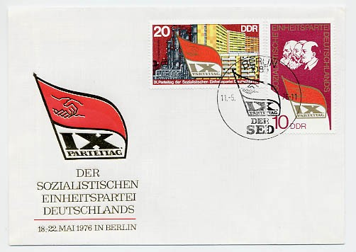 DDR FDC MiNr. 2123/24 9. Parteitag d. SED