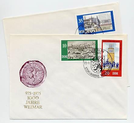 DDR FDC MiNr. 2086/88 1000 J. Weimar