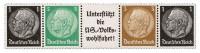 Dt. Reich Einheitsgeber-Streifen 1 ** Hindenburg-Medaillon