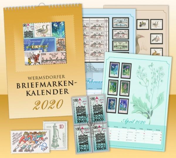 Wermsdorfer Briefmarken-Kalender 2020