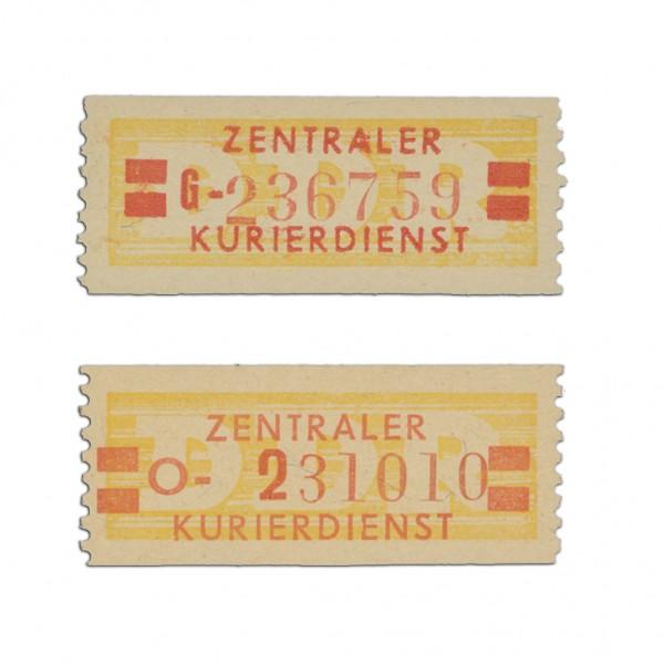 DDR Dienstmarken B, MiNr. 19IN+19II ** Type I u. II