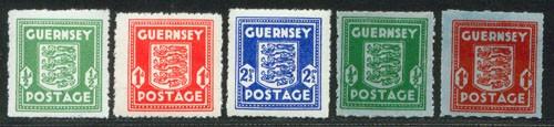 Dt. Besetzung Kanalinseln/Guernsey MiNr. 1-5 **