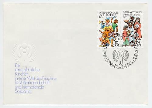 DDR FDC MiNr. 2422/23 Int. Jahr d. Kindes