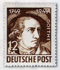 SBZ Allg.A. MiNr. 234/38 ** 200.Geb.J.W.von Goethe