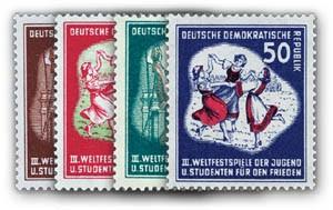DDR MiNr. 289/92 ** Weltfestspiele der Jugend
