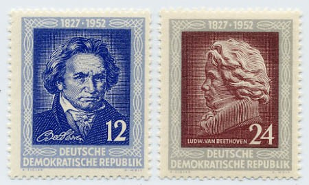 DDR MiNr. 300/01 ** Beethoven