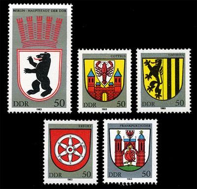 DDR MiNr. 2817/21 ** Stadtwappen I