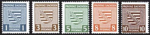 SBZ Prov.Sa. MiNr. 73/78 Xy **