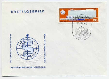 DDR FDC MiNr. 1178 WHO-Gebäude