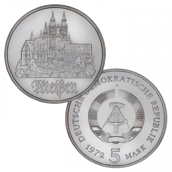 DDR Münze 1972, 5 M, vz Meißen