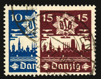 Freie Stadt Danzig MiNr. 267/68 o Danziger Luftschutz (DLB)