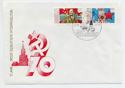 DDR FDC MiNr. 3130/31 70. Jt. Oktoberrevolution