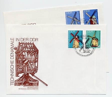 DDR FDC MiNr. 2657/60 Technische Denkmale (I) Windmühlen