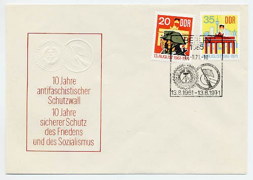DDR FDC MiNr. 1691/92 10 J. Berliner Mauer
