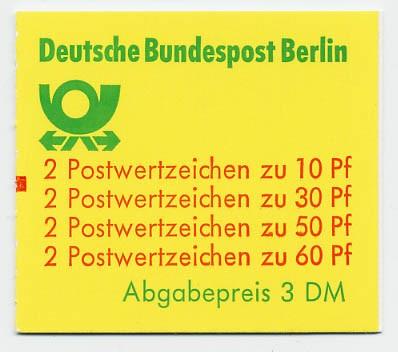 Berlin MH 12ca ** mZ / Burgen und Schlösser 1980 mit Zählbalken