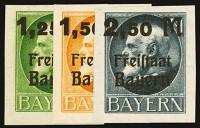 Bayern MiNr. 174/76 B ** Freistaat Bayern: Markwerte ungezähnt