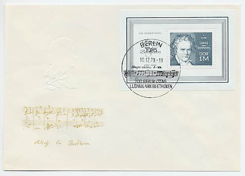 DDR FDC Bl. 33 MiNr. 1631 Beethoven