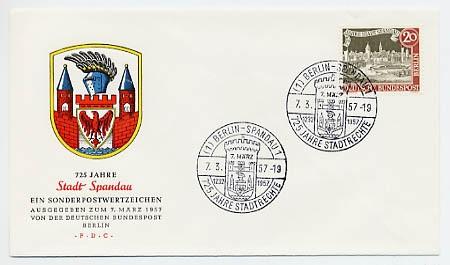 Berlin FDC Mi-Nr. 159 725 Jahre Stadt Spandau
