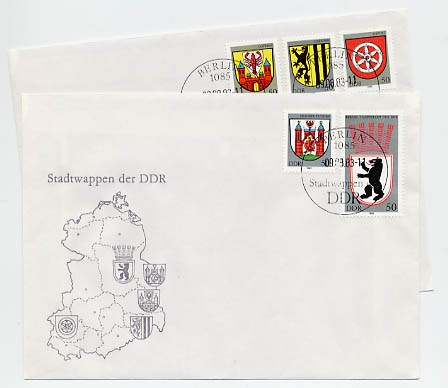 DDR FDC MiNr. 2817/21 Stadtwappen I