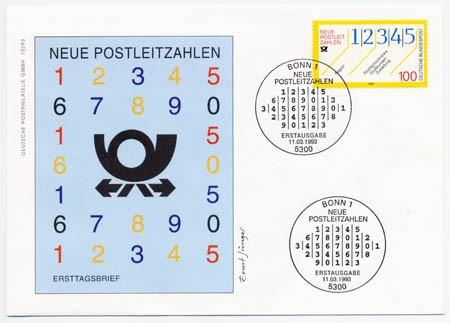 BRD FDC MiNr. 1659 Neue Postleitzahlen